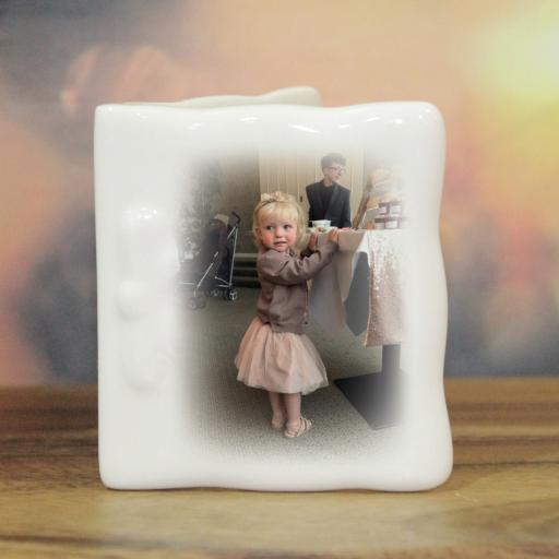 Personalised Photo Upload Bone China Card