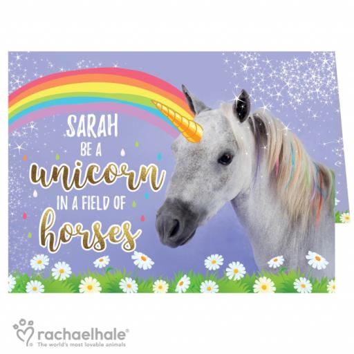 Personalised Magical Unicorn Card