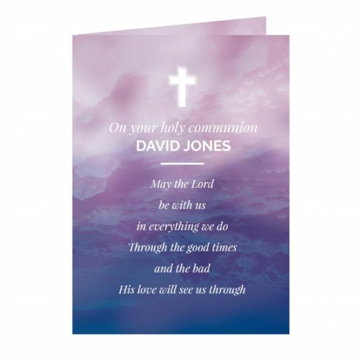Personalised Religious Cross Card