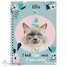 Personalised Rachael Hale ''I Had Fun Once' Cat A5 Notebook
