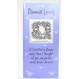 "Angels at Heart ""Bloomin' Lovely"" Greeting Card with Removable 3D Fridge Magnet Keepsake"