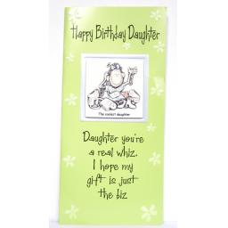 "Angels at Heart ""Happy Birthday Daughter"" Humorous Greeting Card with Removable 3D Fridge Magnet Keepsake"