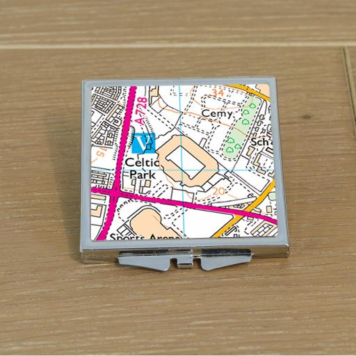 Celtic-Celtic Park Stadium Map Compact Mirror