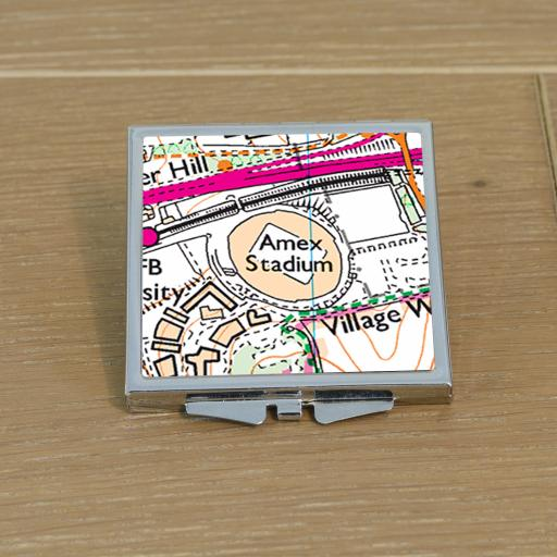 Brighton and Hove Albion-Amex Stadium Map Compact Mirror