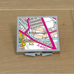 Sheffield Wednesday-Hillsborough Stadium Map Compact Mirror