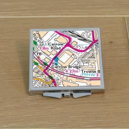 Norwich City-Carrow Road Stadium Map Compact Mirror