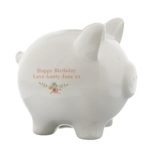Personalised Floral_Bouquet_Piggy_Bank