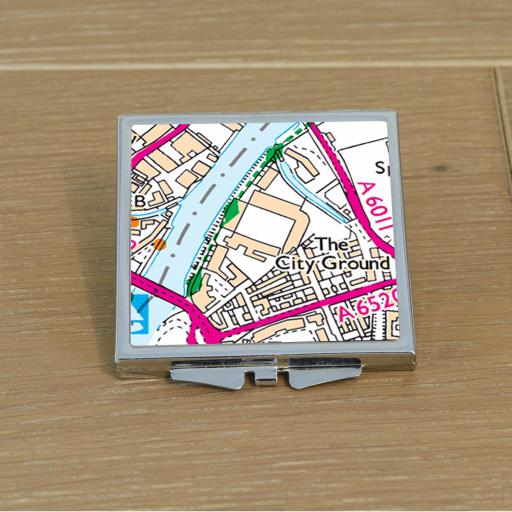 Nottingham Forest-City Ground Stadium Map Compact Mirror