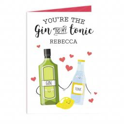 Personalised Gin to my Tonic Card
