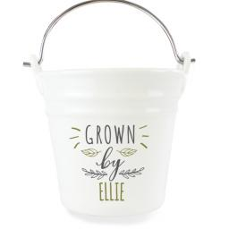 Personalised 'Grown By' Porcelain Bucket