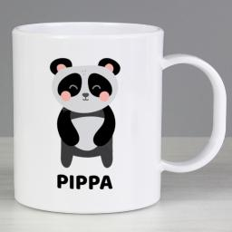 Personalised Child's Panda Plastic Mug