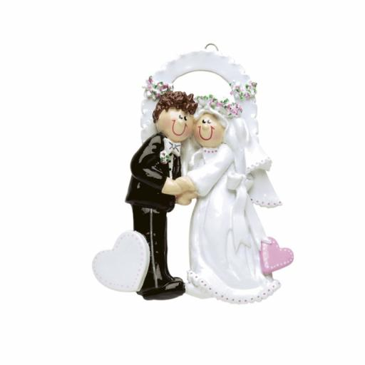 Personalised Bride & Groom Wedding Couple Hanging Decoration/Ornament