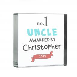 Personalised No. 1 Glass Block