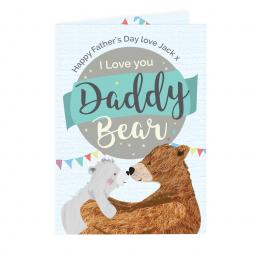 Personalised Father's Day Daddy Bear Card