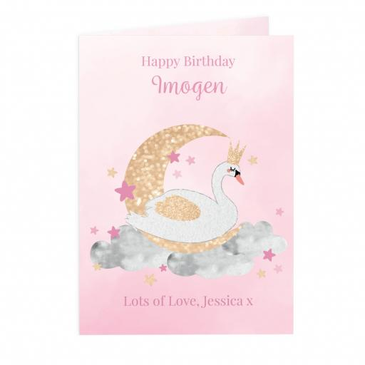 Personalised Swan Lake Card