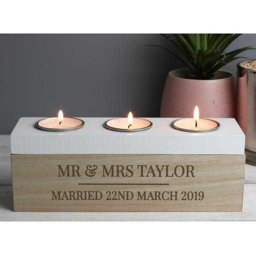 Personalised Tealight Holder In Loving Memory
