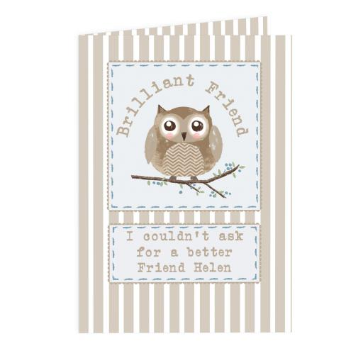 Personalised Woodland Owl Card