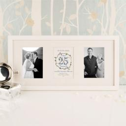 Personalised 25th Anniversary White Frame