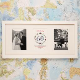 Personalised 60th Anniversary White Frame