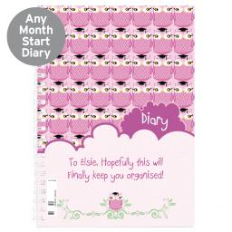 Personalised Pink Owl Diary