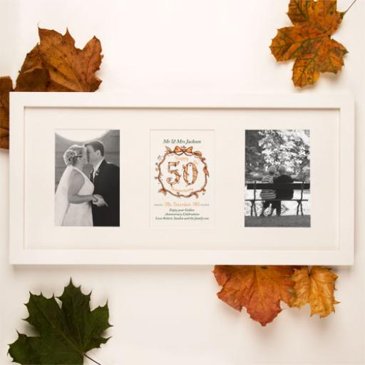 Personalised 50th Anniversary White Frame