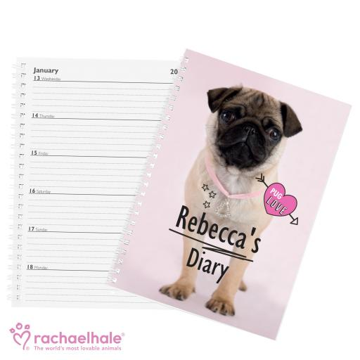 Personalised Pug Diary
