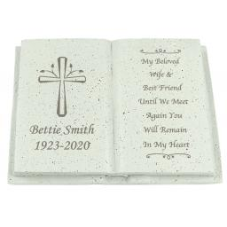 Personalised Cross Memorial Book