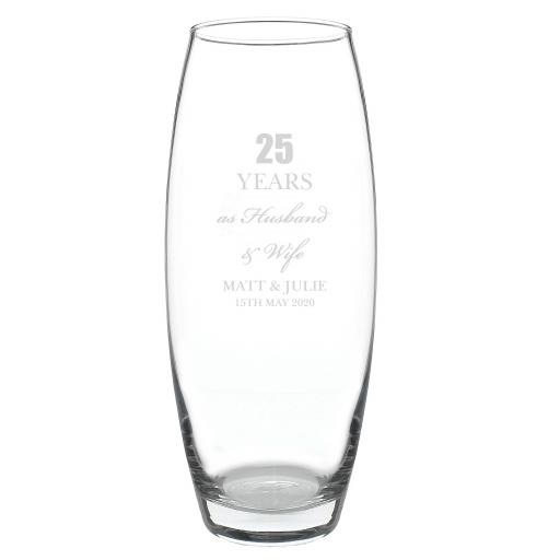 Personalised Glass Anniversary Bullet Vase