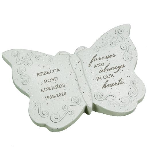 Personalised Forever and Always Memorial Butterfly