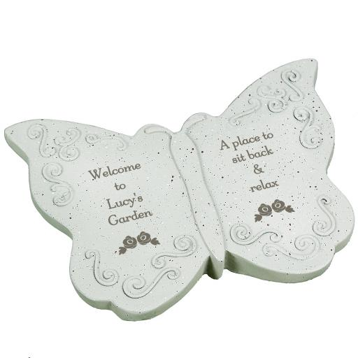 Personalised Floral Any Message Memorial Butterfly