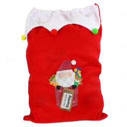 Personalised Purple Pocket Santa Christmas Luxury Sack