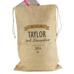 Personalised Classic Parcel Hessian Sack