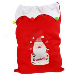 Personalised Pocket Santa Christmas Luxury Sack