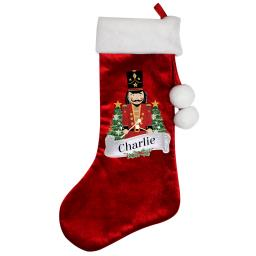 Personalised Nutcracker Christmas Luxury Stocking