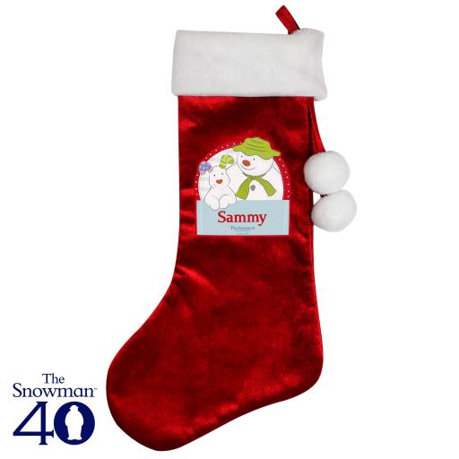 Personalised The Snowman and the Snowdog Christmas Luxury Stocking