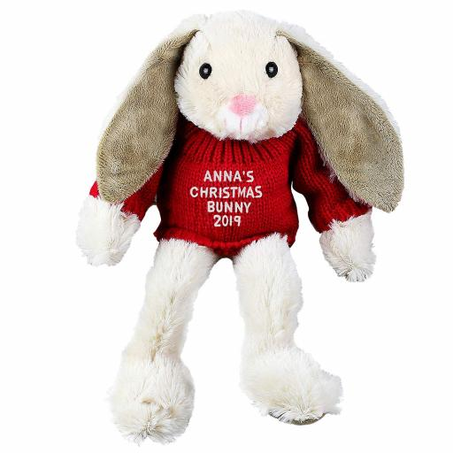 Personalised Christmas 2019 Bunny Rabbit Plush