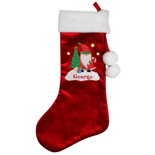Personalised Tartan Santa Christmas Luxury Stocking