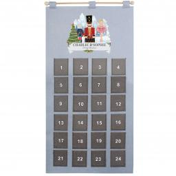 Personalised Silver Grey Nutcracker Advent Calendar