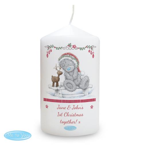 Personalised Me To You Reindeer Christmas Candle