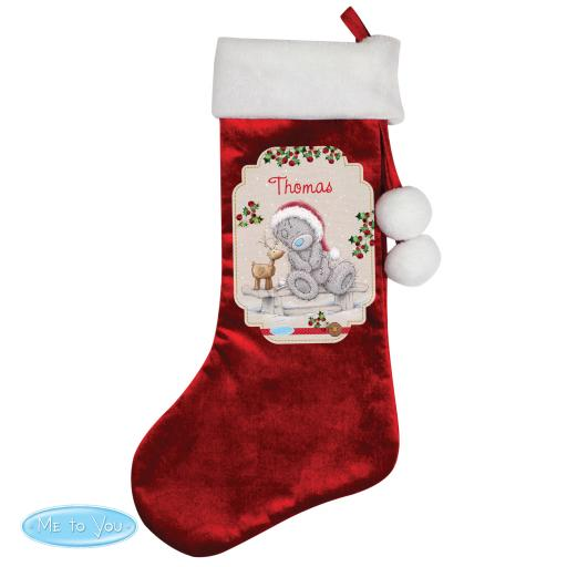 Personalised Me to You Reindeer Christmas Luxury Stocking