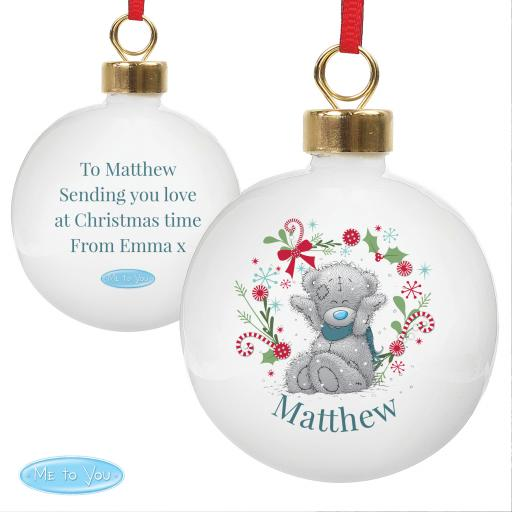 Personalised Me To You For Grandad, Dad Christmas Bauble