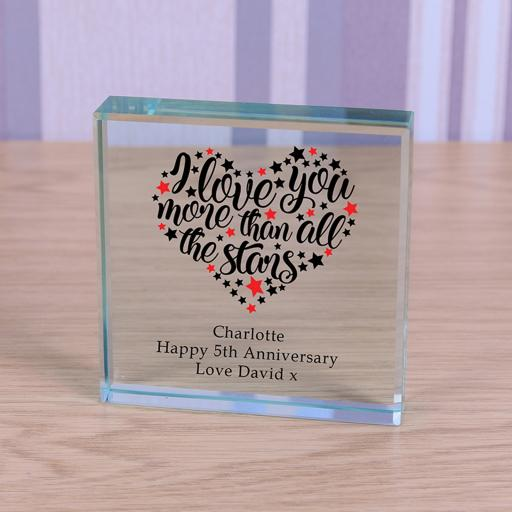 Personalised Glass Token All the Stars.