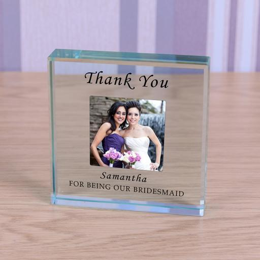 Personalised Glass Token Bridesmaid
